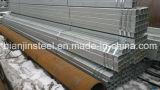 Estructura de construcción que usa rectangular de tubería de acero