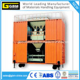 Bewegliche containerisierte Porteinsacken-Maschineneinheit