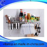 携帯用台所壁に取り付けられた金属の香辛料用の棚