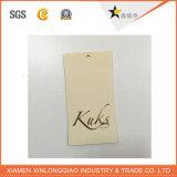 カスタムペーパープラスチック衣服はラベルの印刷の振動こつの札を印刷した