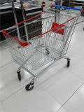 쇼핑 트롤리 슈퍼마켓은 유럽 식료품류 트롤리를 짐마차로 나른다