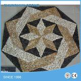 自然な大理石の石造りのモザイク模様