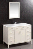 Шкаф тщеты ванной комнаты тщет шкафа ванной комнаты твердой древесины классицистический (LZ-132)