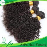 自然で黒いねじれた巻き毛のバージンの人間のペルーのアクセサリの毛