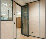 Portelli di piegatura di alluminio di colore nero e Windows/doppi portelli di vetro