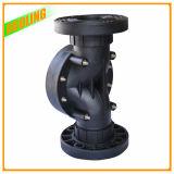Soupape en plastique de position de la voie 2 du noir 2 avec le robinet à tournant sphérique