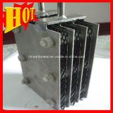 水処理はチタニウムの陽極、チタニウムの電極に白金を着せる