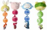 Игрушка любимчика поставкы продуктов веревочки плюша игрушки собаки вспомогательная