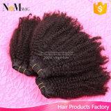 Menschenhaar-Fabrik-direkter Preis-bester Qualitätstiefer Rotationperuanischer Afro verworrenes lockiges Coily Großverkauf-Häkelarbeit-Produkt-Haar
