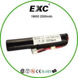 18650 bloco recarregável da bateria da bateria de lítio 2200mAh do lítio