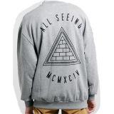 Фуфайка пуловера людей оптового способа слишком большой с Silk печатью