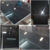Brames artificielles noires pures de pierre de quartz de qualité