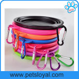 Fabrik-Großhandelssilikon-Spielraum-zusammenklappbare Haustier-Wasser-Hundeschüssel