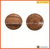 楕円形の形3Dの船の硬貨米国銀製亜鉛合金の金属の硬貨(JINJU16-039)