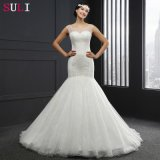 O-Neck Backless Beading Wedding Dress (Q-026)