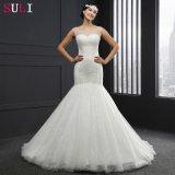 Платье венчания O-Шеи Backless отбортовывая (Q-026)