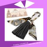 Handgemachte PU-Troddel-Schlüsselkette für Handtasche P016-003