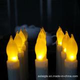 Votive Lichten van de Kaars van de Stok van lange Gele de Trillende Batterijkabels