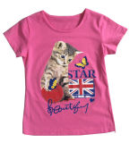 ChildrenのWear Clothes Sgt-077のかわいいCat Kids Girl T-Shirt