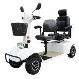 Furgão de mobilidade motorizada de dupla assento de quatro rodas para idosos