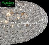 Grande indicatore luminoso Pendant in rilievo di cristallo di figura rotonda di formato