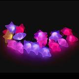 Im Freien Weihnachtszeichenkette-Licht der Dekoration-Stern-Form-LED wasserdicht