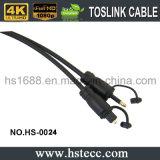 Cavo di fibra ottica nero del PVC