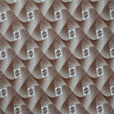 Não PVC Fabric Leather de Woven Backing para Car, sofá, Bags, Decoration