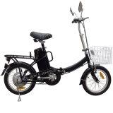 バスケットおよびLEDのヘッドライト(FB-006)が付いている軽い折りたたみの電気バイク