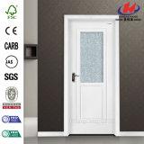 Дверь белой низкой цены праймера стеклянная деревянная