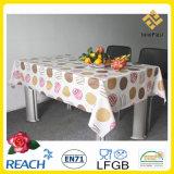 Tablecloth impresso PVC com suportação na fábrica do rolo
