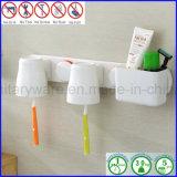 L'aspiration de surgeon de support de brosse à dents d'accessoires de salle de bains de support de mur met en forme de tasse l'organisateur