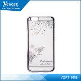 Placcatura Bright Transparent Soft Mobile Phone TPU Caso per il iPhone