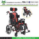 Crianças apropriadas 7-15 anos de cadeira de rodas manual de alumínio de pouco peso de reclinação das crianças da qualidade superior