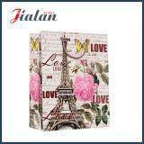 Bolsa de papel laminada mate del regalo de las compras de la torre de Effiel del papel de marfil