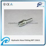 NPT macho carbono forjado manguera hidráulica de acero (15611)