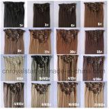 Clip synthétique de prolonge de cheveu de part de cheveu d'Euramerican dans le cheveu 7PCS