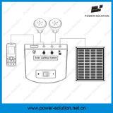 Sistema de iluminação da potência solar de Rechargeble com o carregador do telefone de 2 Bulbs&Mobile