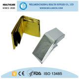 Erste HILFEen-Gebrauch-Folien-Silber-Goldthermische medizinischer Notdecke