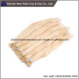 Pelo humano de la Virgen brasileña recta rubia del pelo humano