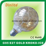 Шарик золота сатинировки Kroko-Льда G95 раскаленный добела