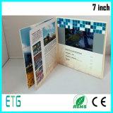 Livro video de 7 polegadas para o cartão