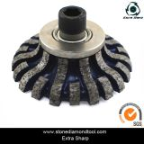 Рука профилируя колесо для алмазных резцов мрамора гранита