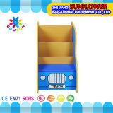 Estante de libro, armario de madera del juguete, coche que modela el estante de los juguetes (XYH12141-4)
