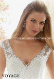 Выполненное на заказ Morilee Mori Lee светя отбортовывающ шикарную крышку шнурка Sleeves платье венчания (Dream-100050)