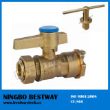 Lockable all'ingrosso Brass Ball Valve per Water Meter (BW-L07)