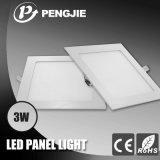 Nuevo Super Slim Vivienda Plaza de 3W lámpara LED Panel