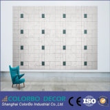 Tablero del panel acústico de pared de la fibra de madera del aislamiento sano del hogar