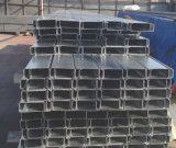 Canal de acero galvanizado de C para las correas de la azotea