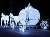 Navidad 3D LED luz de los ciervos para la decoración